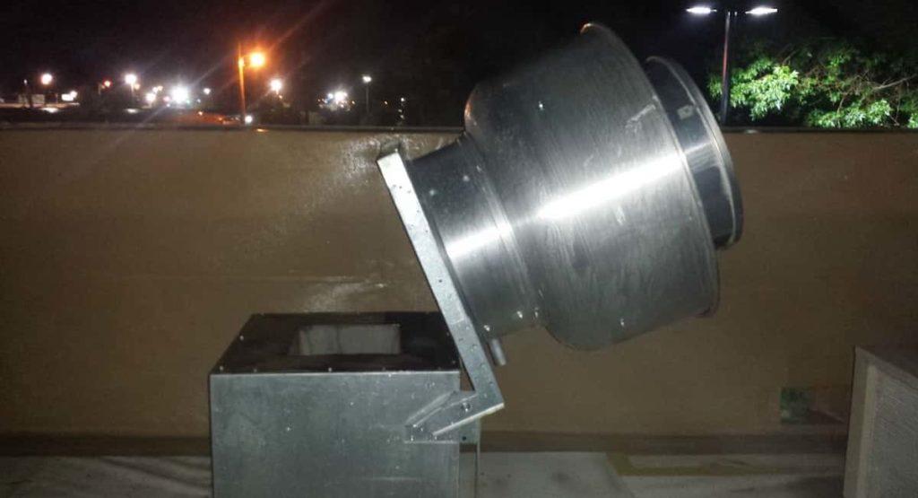 Install an exhaust fan hinge kit
